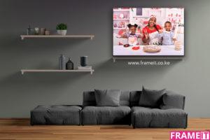 FrameIT Header Mockup With Website